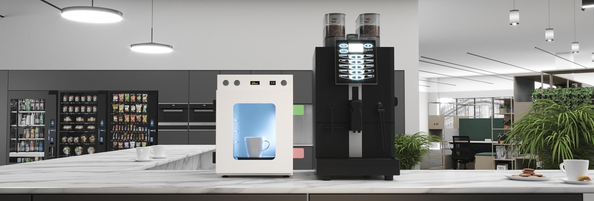 UV-C desinfectie van cleaning cups